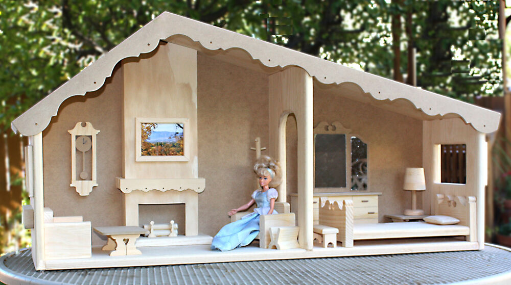Build A Barbie Doll House and Furniture from Wood Plans | eBay