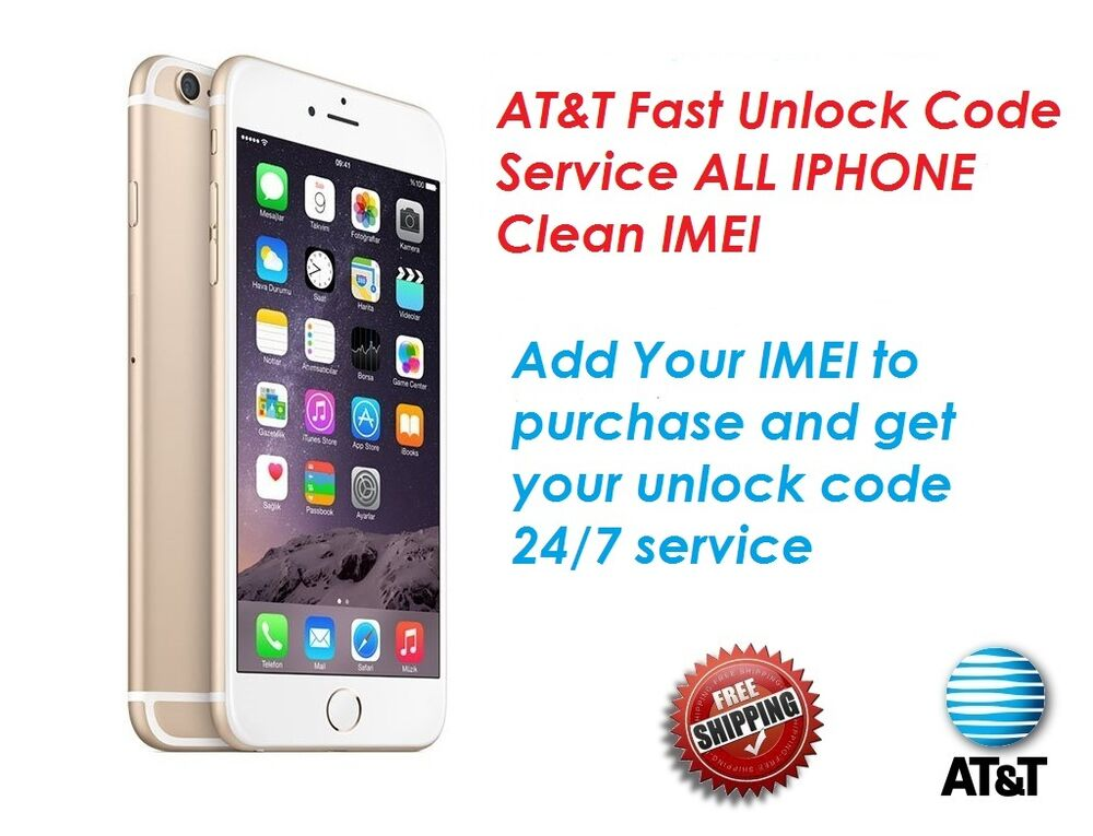 fast factory unlock code for at t iphone 3 4s 5 5s 6 6s se 7 clean imei only ebay. Black Bedroom Furniture Sets. Home Design Ideas