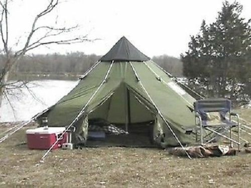 Teepee Tent 10 X 10 Tipi Family C&ing Survival Screened Doors 100% GUARANTEED! & Teepee Tent | eBay