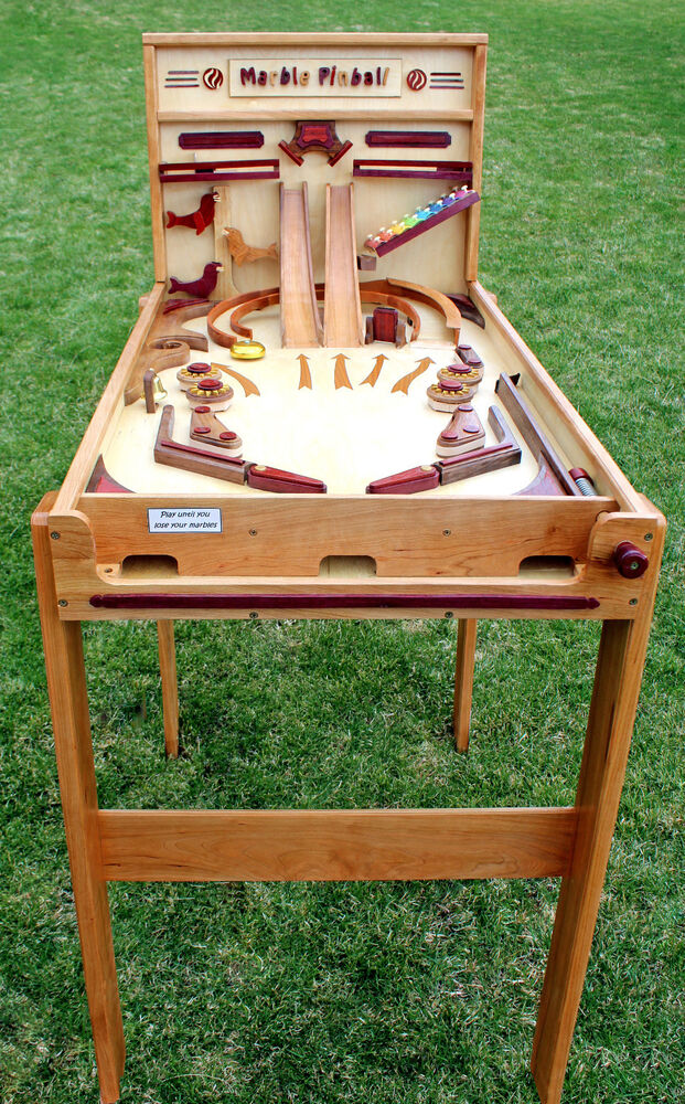 Woodworking Plan For Building A Wood Marble Pinball Game