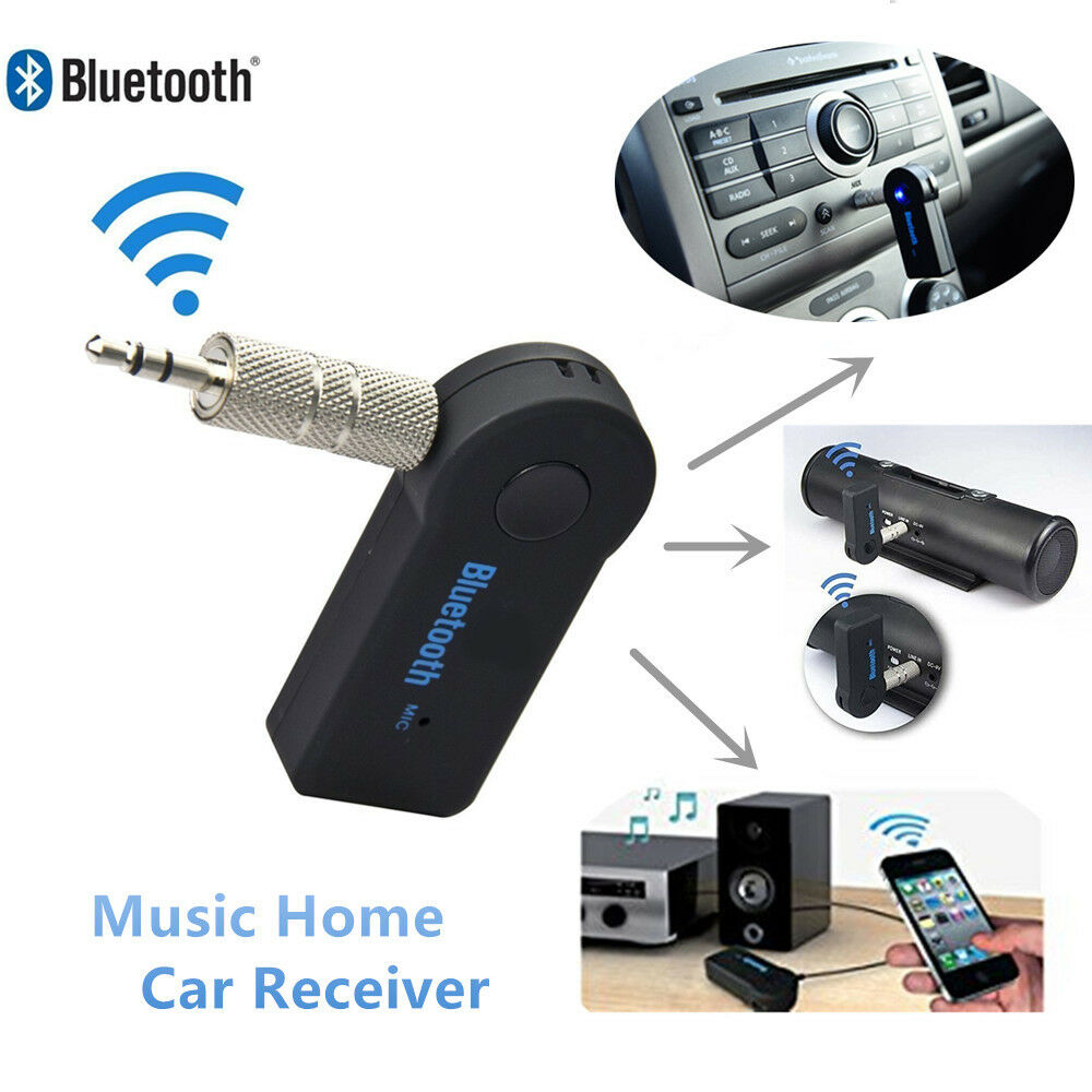 3.5mm AUX Wireless Bluetooth Audio Stereo Music Home Car Receiver Adapter Mic