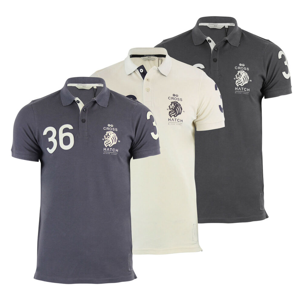 Mens polo t shirt crosshatch evangels collared cotton for Mens collared t shirts