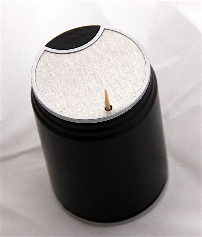 Dispenser toothpick holder pick plastic box tooth automatic black new ebay - Tooth pick dispenser ...