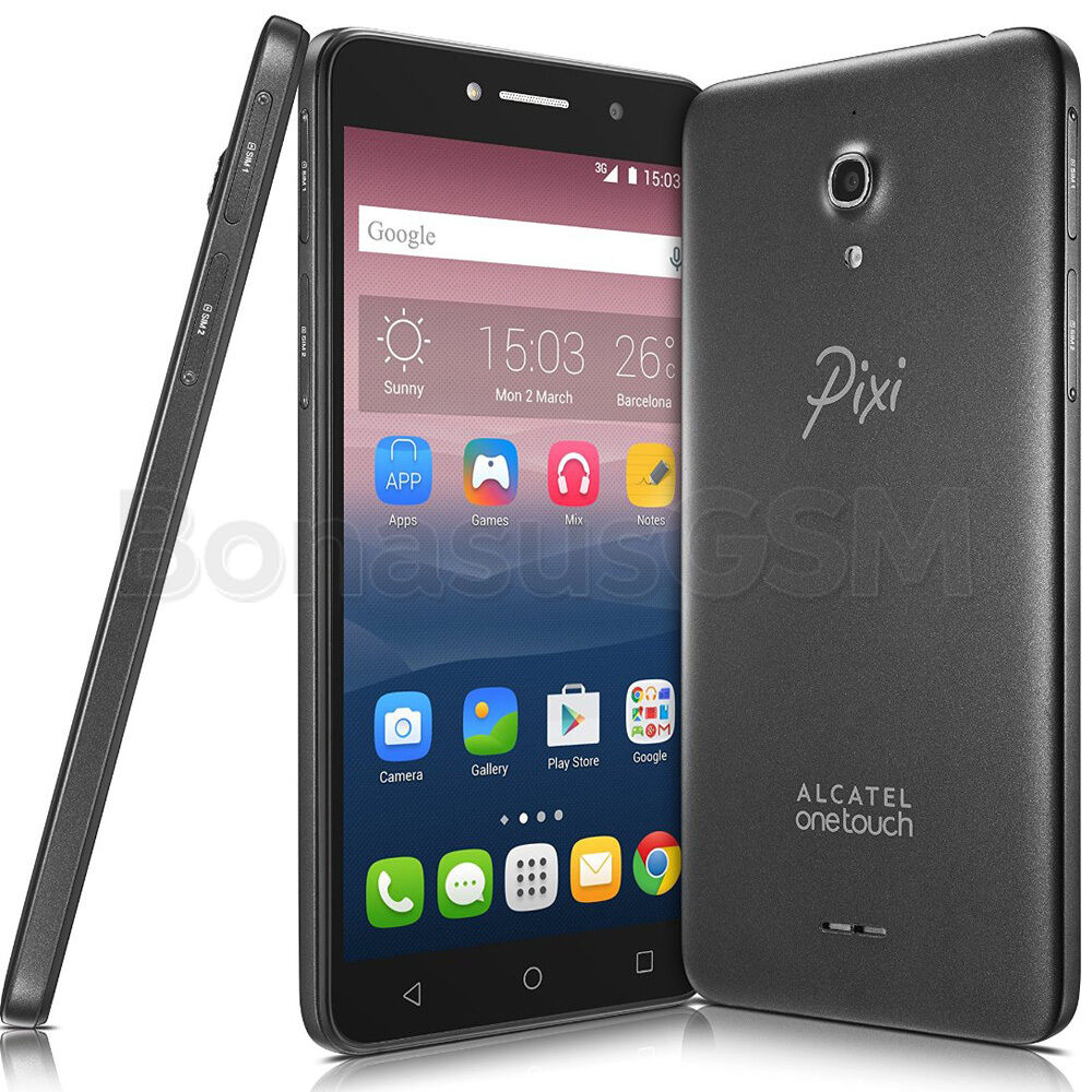 alcatel one touch pixi 4 6 8050d dual sim smartphone with 6 display black ebay. Black Bedroom Furniture Sets. Home Design Ideas