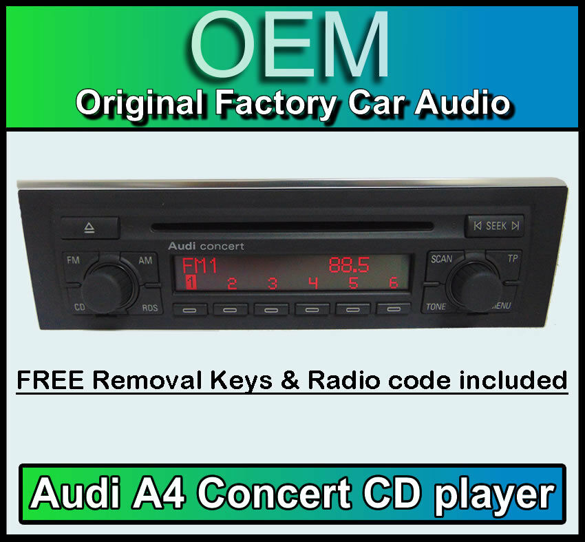 Audi A4 Cd Player Audi Concert Car Stereo Head Unit