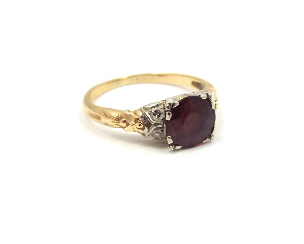 Antique Ruby And Diamond Rings Ebay