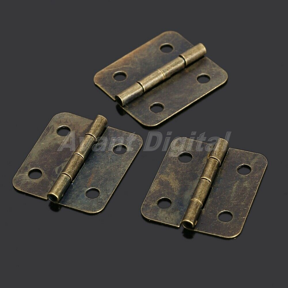 12x screws tool set for antique brass jewelry gift wood for Furniture hinges