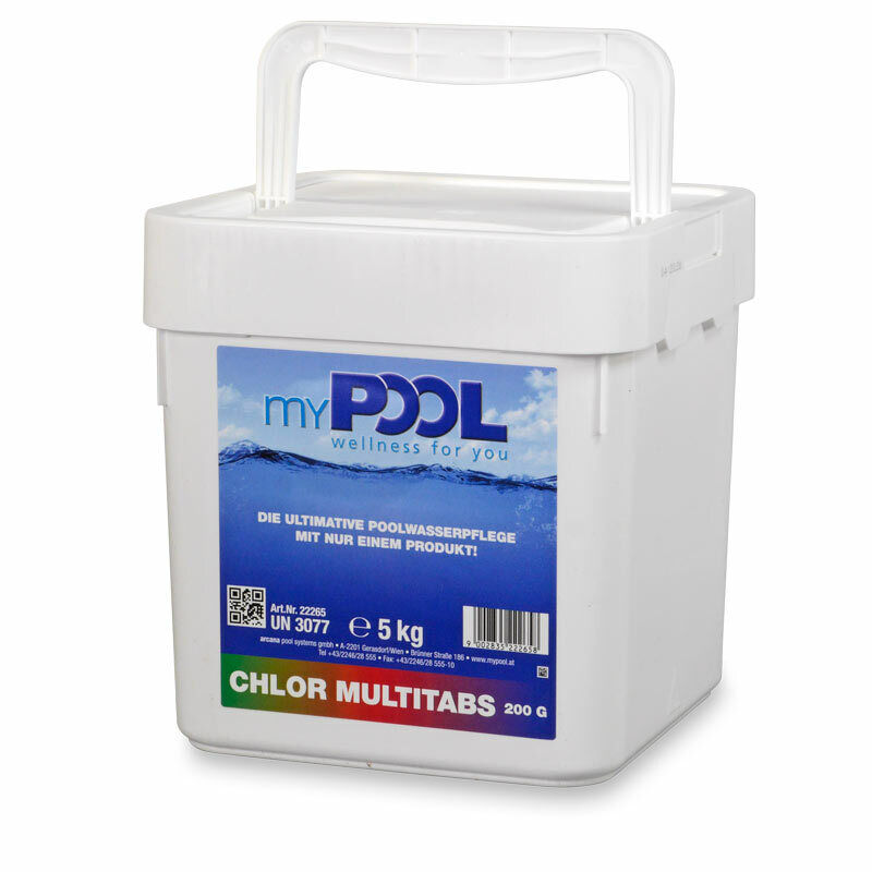 mypool chlor tabs multi tabletten 200gr 5 0 kg multitabs pool schwimmbad ebay. Black Bedroom Furniture Sets. Home Design Ideas