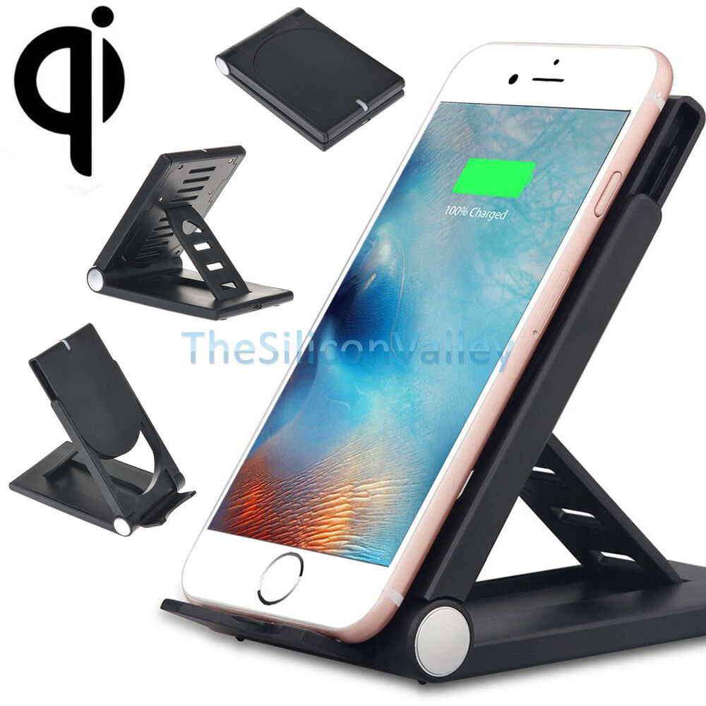 qi wireless charger charging vertical dock stand for samsung galaxy s8 s7 edge ebay. Black Bedroom Furniture Sets. Home Design Ideas