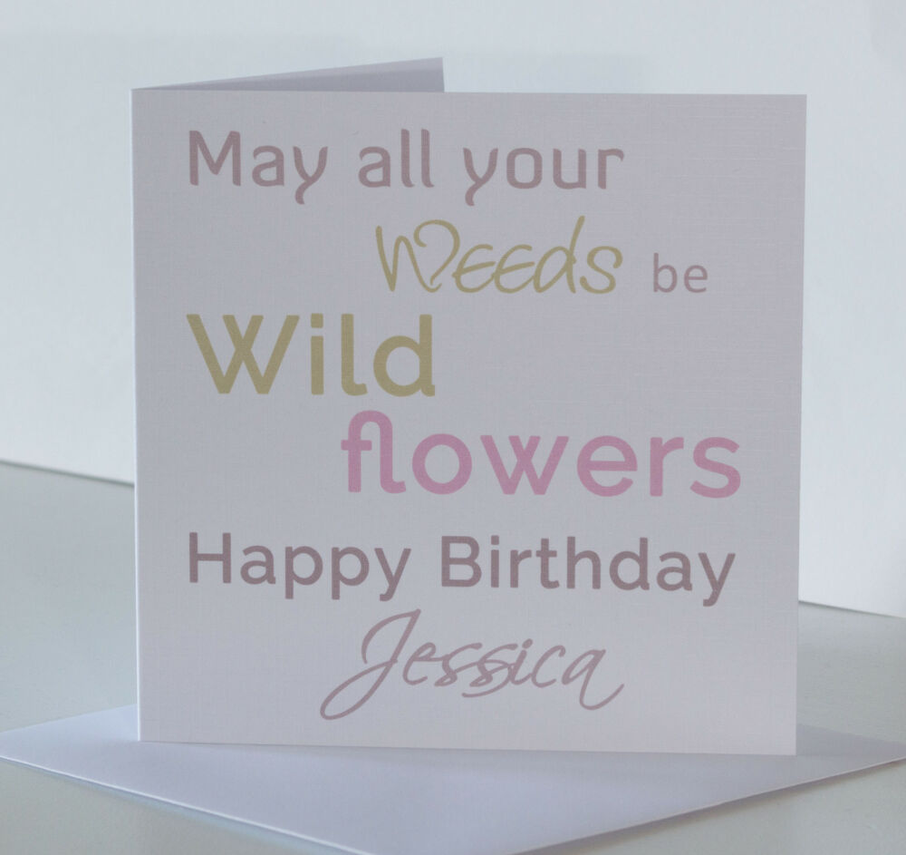 Personalised Gardener Birthday Card For Her Funny Humour Gardening