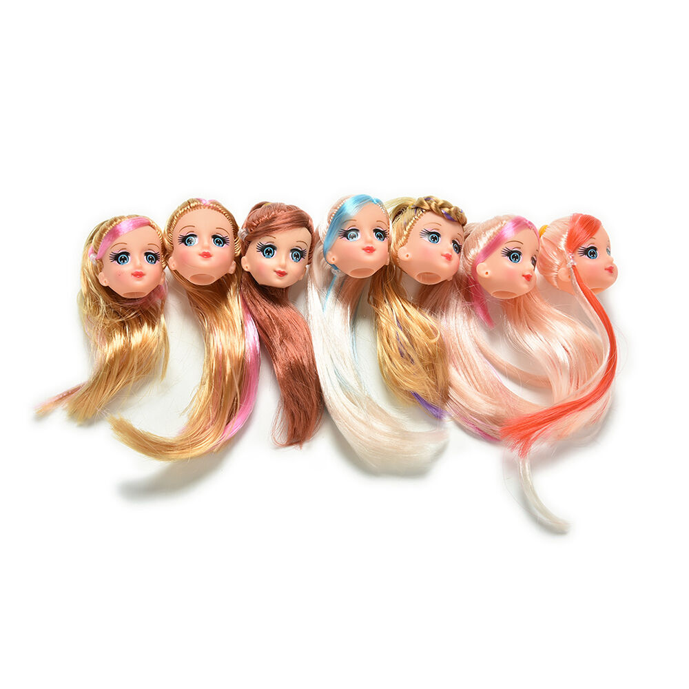 1 Pcs Doll Head With Colorized Hair For 9 Barbie Doll Styles Random Toca Ebay