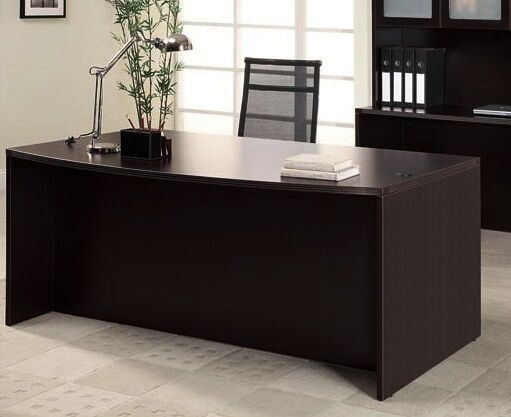 New Amber Bow Front Executive Office Desk Shell Ebay