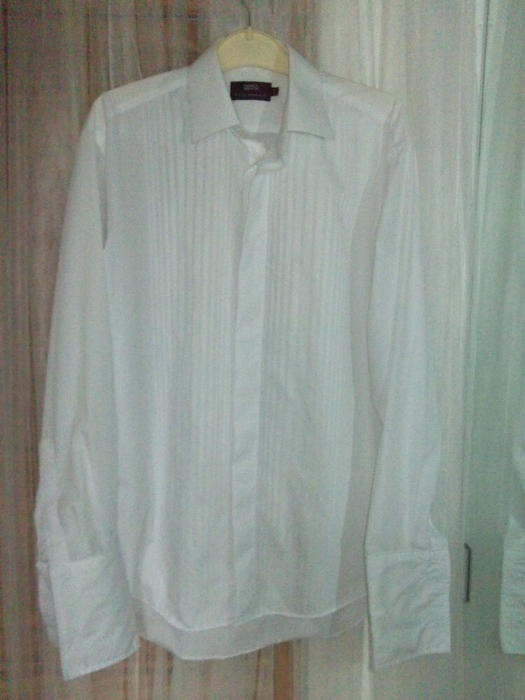 Marks spencer mens white formal dinner dress shirt 15 for Mens formal white shirts