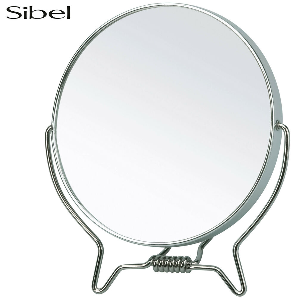 Sibel metal small stand up shaving mirror makeup artist or for Small stand up mirror