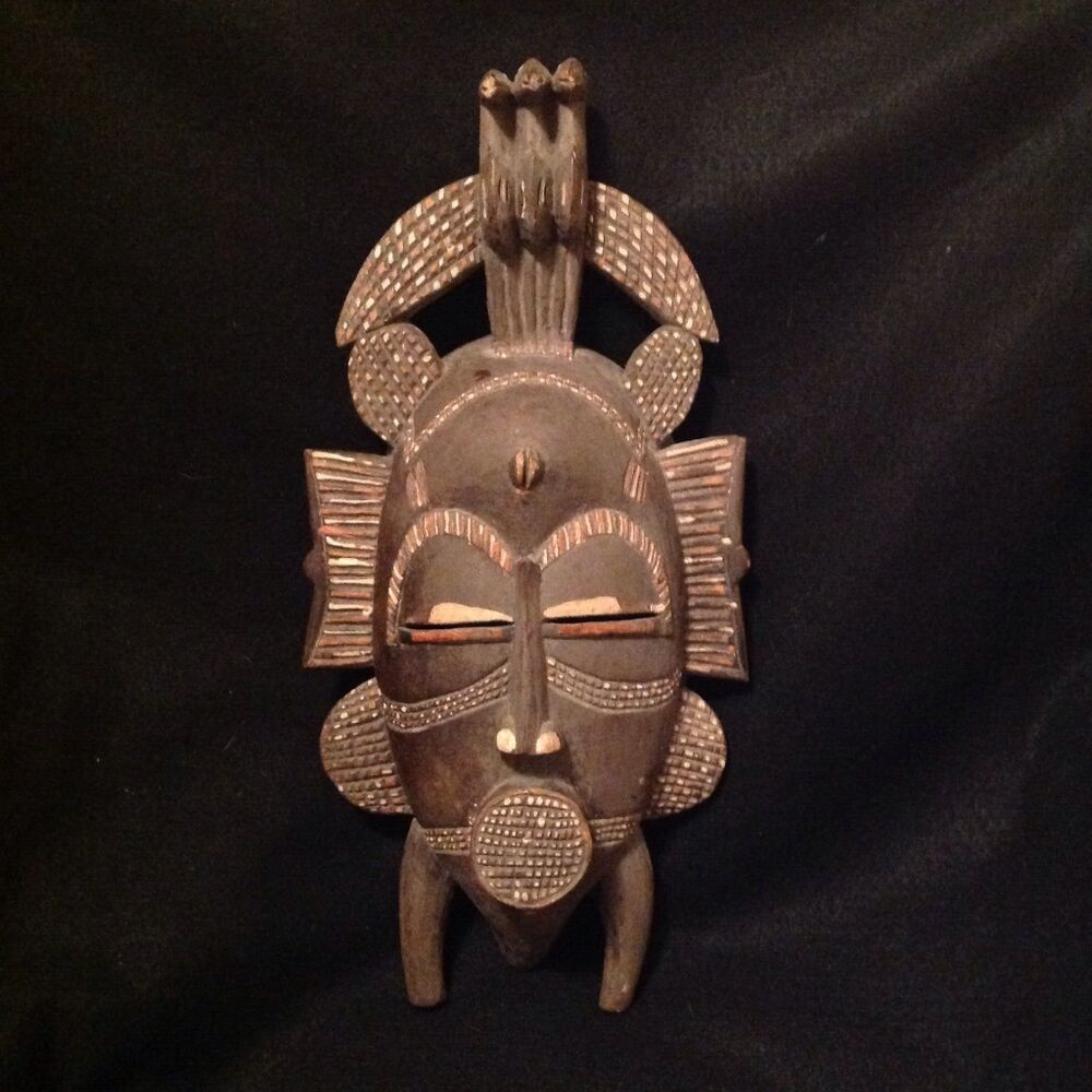 Authentic Vintage Senufo Ivory Coast African Tribal Mask ...