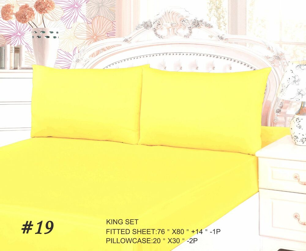 Tache Cotton Solid Bright Light Banana Yellow Fitted Deep
