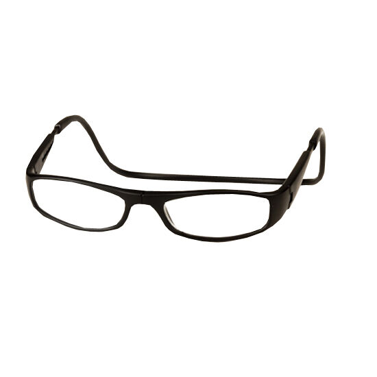 clic 2 diopter magnetic reading glasses black ebay