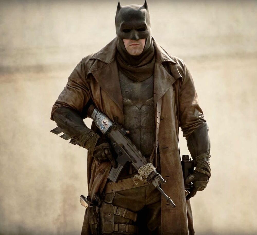 Knightmare Batman Leather Trench Coat