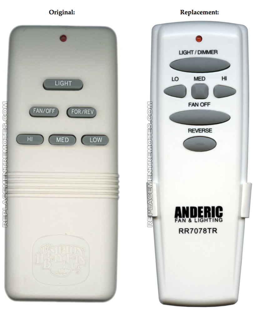 Hampton Bay G9p2btauc705 Replacement Remote Control For Ceiling Fan And Light 191713197931 Ebay
