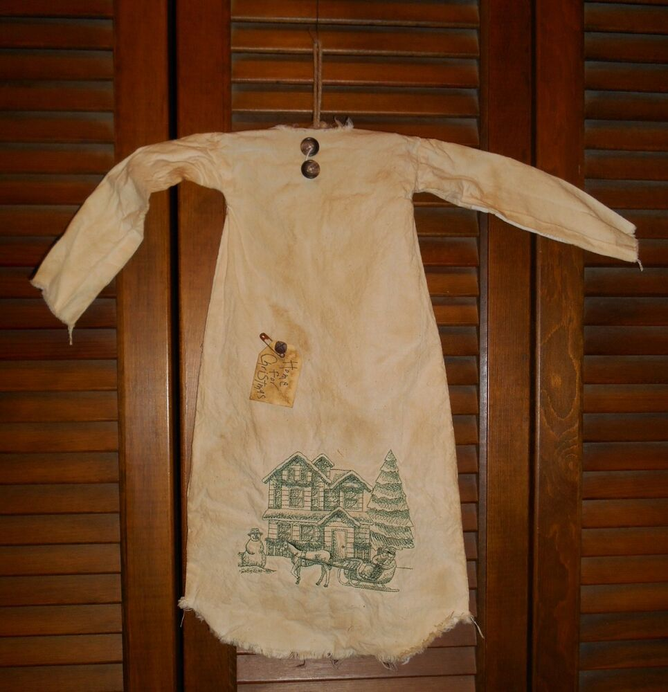 Primitive Grungy Decor Home For Christmas Nightshirt