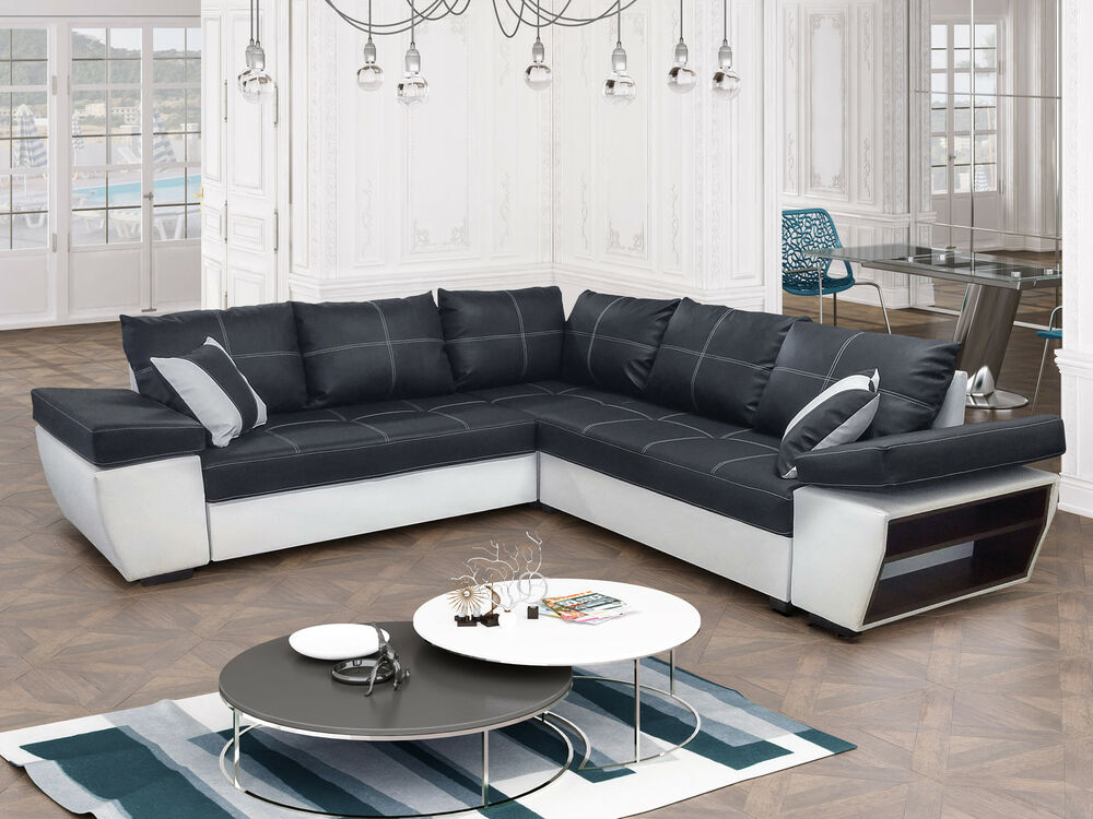 ecksofa tivoli 2a2 mit schlaffunktion eckcouch sofagarnitur modern 01 ebay. Black Bedroom Furniture Sets. Home Design Ideas