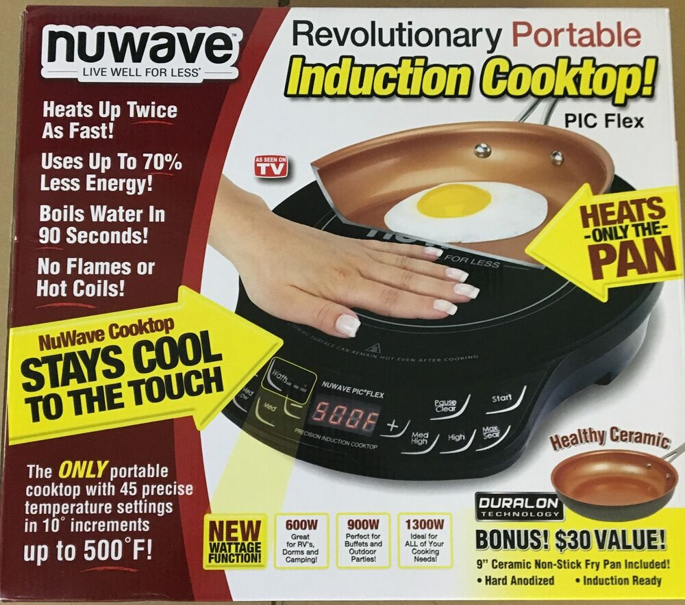New Nuwave 2 Piece Precision Portable Induction Cooktop