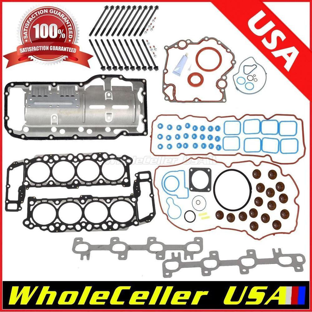 Full Engine Gasket Set Head Bolts Fits JEEP GRAND CHEROKEE