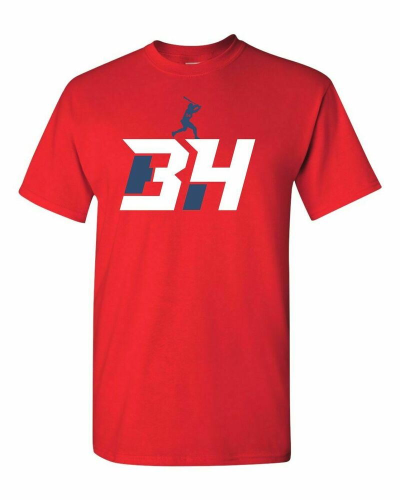 bh 34 bryce harper baseball nationals men 39 s tee shirt 1406. Black Bedroom Furniture Sets. Home Design Ideas