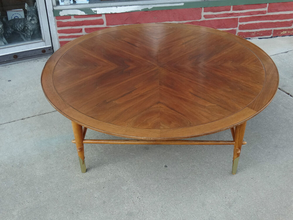 Vintage Mid Century Modern Large 48 Walnut Coffee Table By Lane Ebay