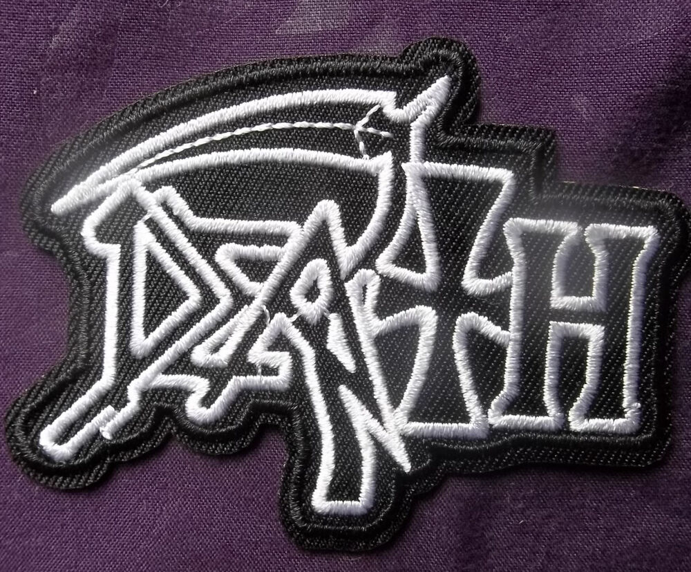 Death band heavy metal embroidered patch biker punk diy ebay