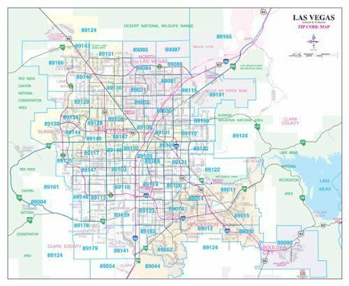 metro maps las vegas arterial collector zip code map ebay. Black Bedroom Furniture Sets. Home Design Ideas