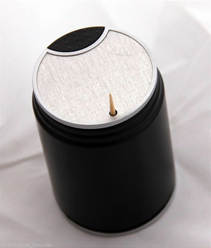 Dispenser toothpick holder pick plastic box tooth automatic black new ebay - Pop up toothpick dispenser ...