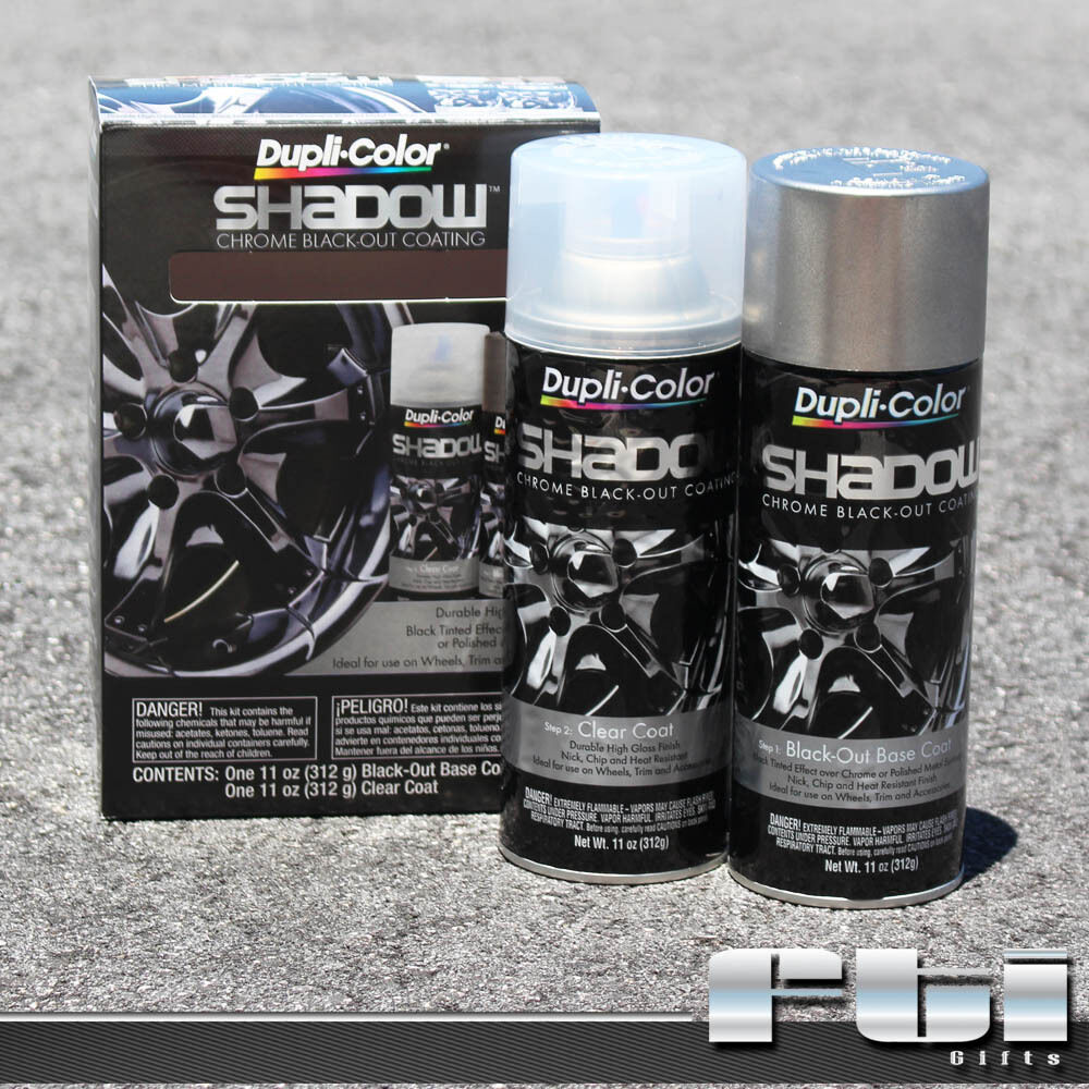 dupli color shd1000 shadow wheels rims chrome black out coating spray paint kit ebay. Black Bedroom Furniture Sets. Home Design Ideas