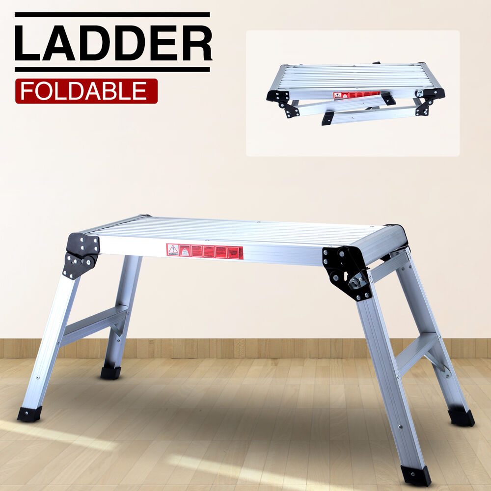 Folding Bench Stool Ladder Drywall Step Up Platform