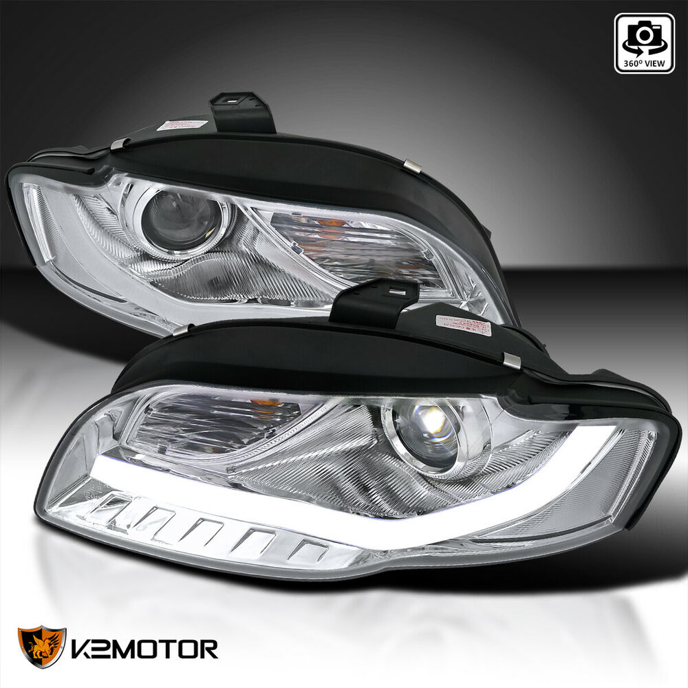 [Audi R8 LED DRL Strip Style] For 2006-2008 Audi A4 S4 B7