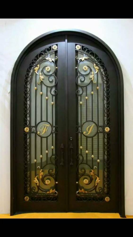 custom made 72 x 108 wrought iron doors in 12 gauge