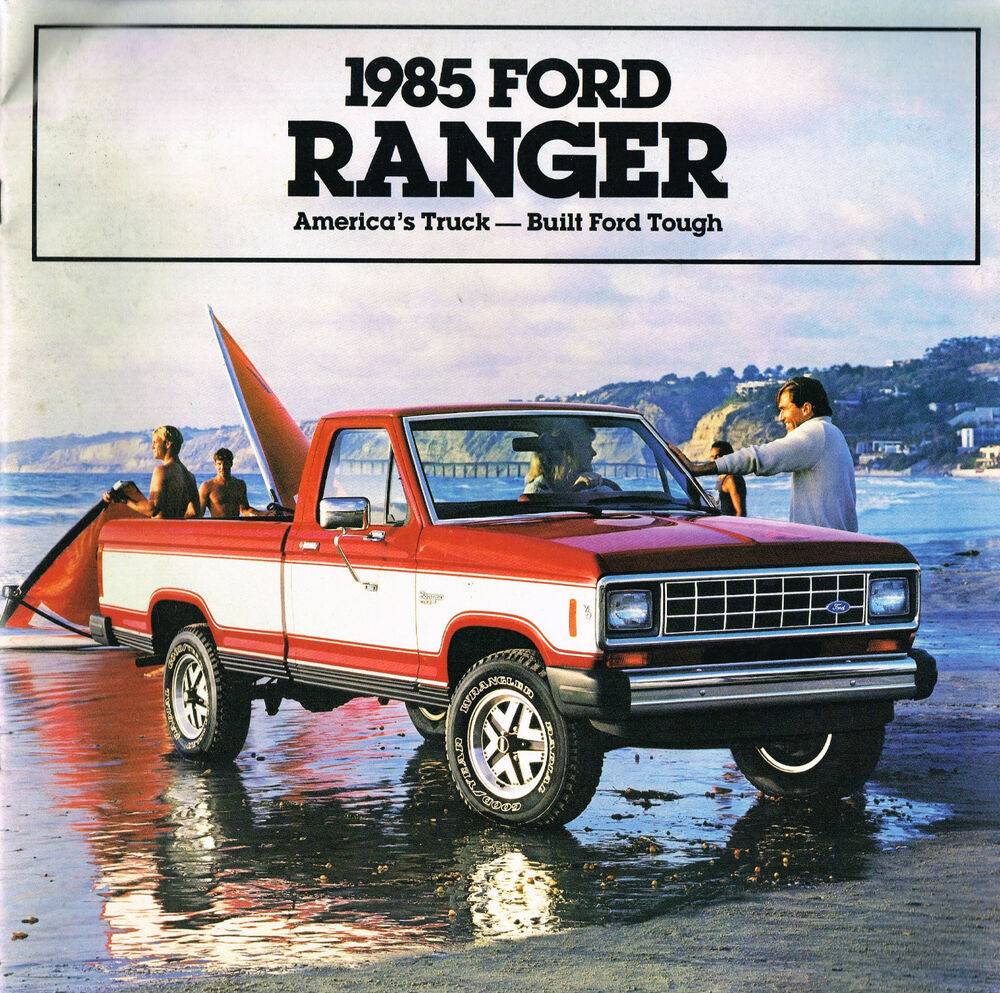 1985 ford ranger pickup truck brochure w color chart xl. Black Bedroom Furniture Sets. Home Design Ideas