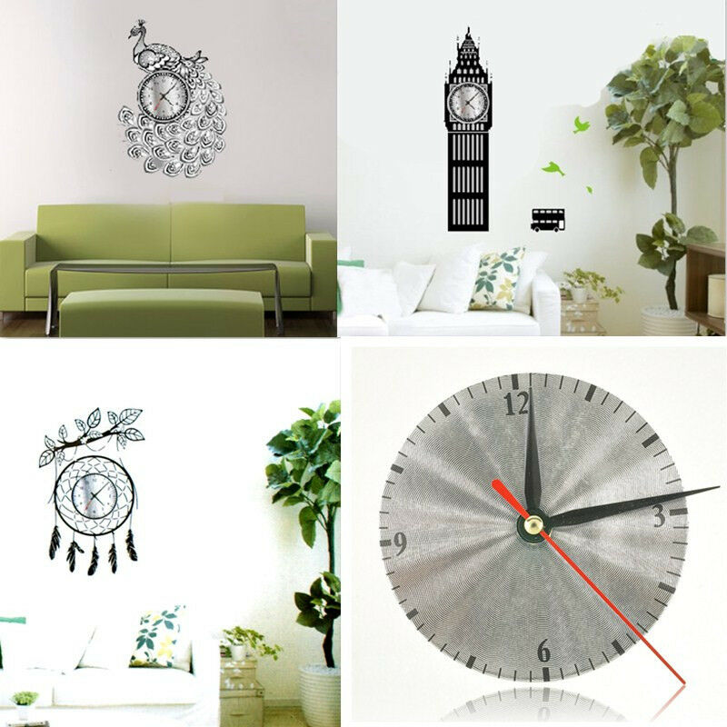 Modern Art Wall Design Diy : Luxury modern diy wall clock d mirror surface sticker