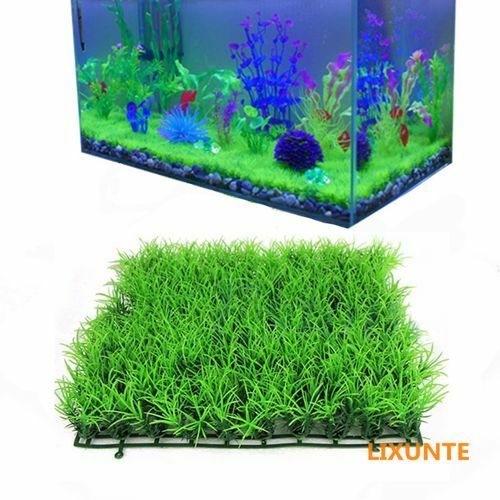 Green plastic water grass plant lawn fish tank landscape for Green water in fish tank