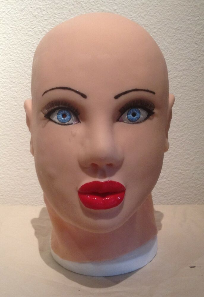 Latex female face mask