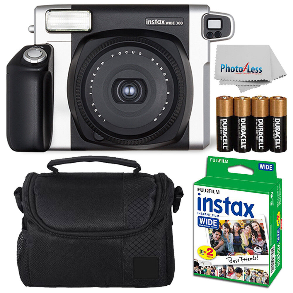 fujifilm fuji instax wide 300 instant film camera 20 films more value kit ebay. Black Bedroom Furniture Sets. Home Design Ideas
