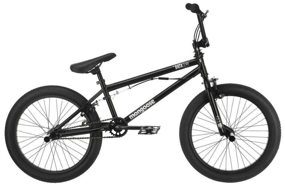 20 in Mongoose Boy's BMX Freestyle Bike Data X 2.2, Black ...