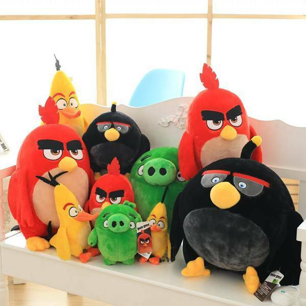 4 styles angry birds yellow red black soft plush toys stuffed animal dolls ebay - Angry birds toys ebay ...