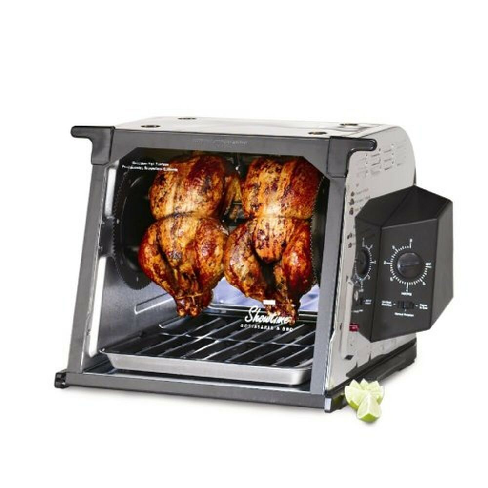 ronco 4000 series showtime chicken rotisserie countertop oven stainless steel ebay. Black Bedroom Furniture Sets. Home Design Ideas