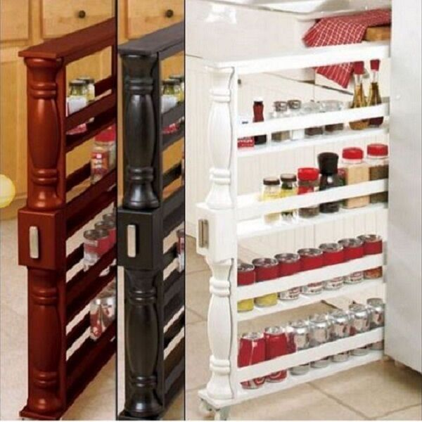 kitchen spice storage sliding spice rack without spices organizer can slim 3087