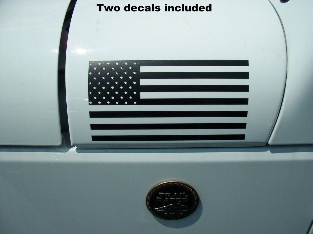 Jeep Wrangler Renegade >> Flag USA American US (PAIR) DECALS Fender Hood Window Jeep ...