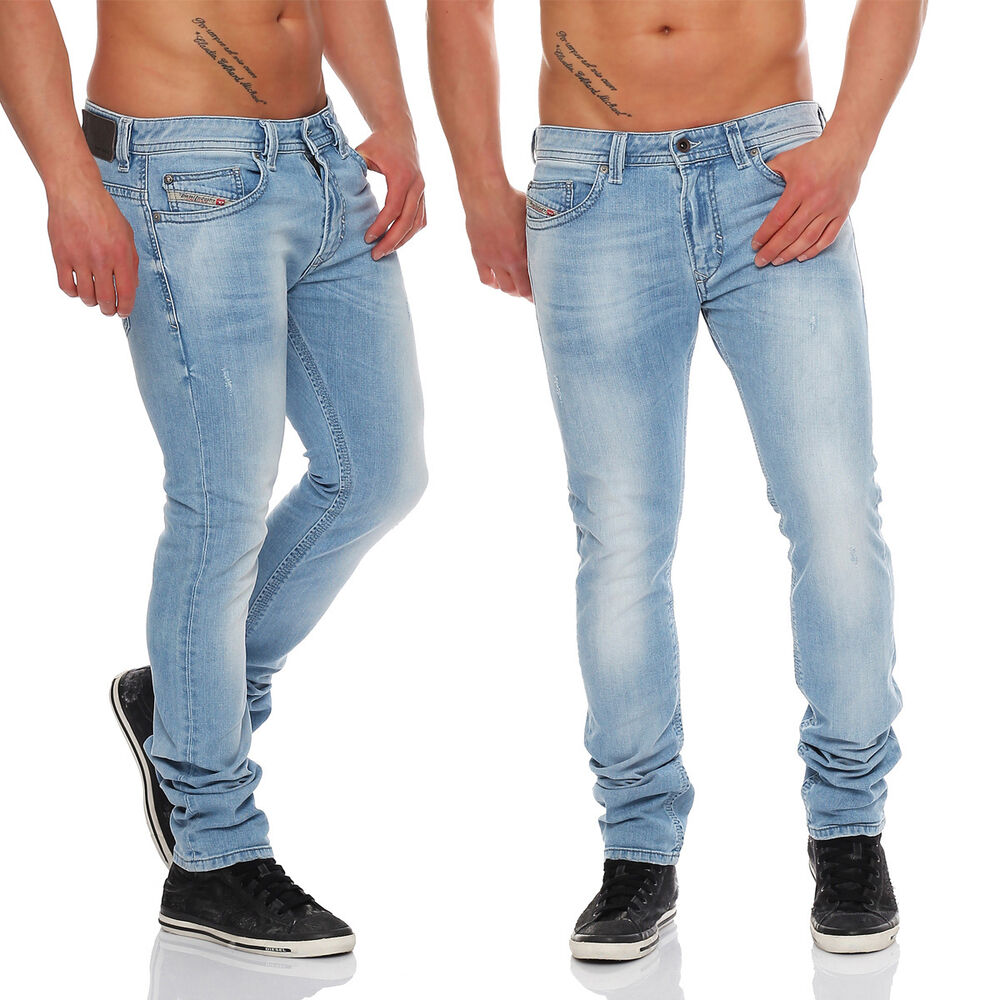 diesel jeans thavar 0839g 839g herren hose r hrenjeans hellblau neu wow ebay. Black Bedroom Furniture Sets. Home Design Ideas