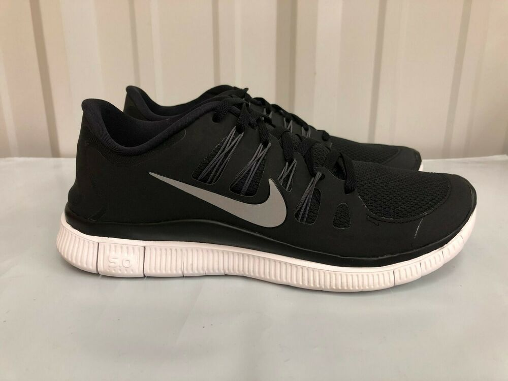 low cost c86fa 0cb29 Details about WMNS Nike Free 5.0 Black Metallic Silver Dark Grey White  580591-002