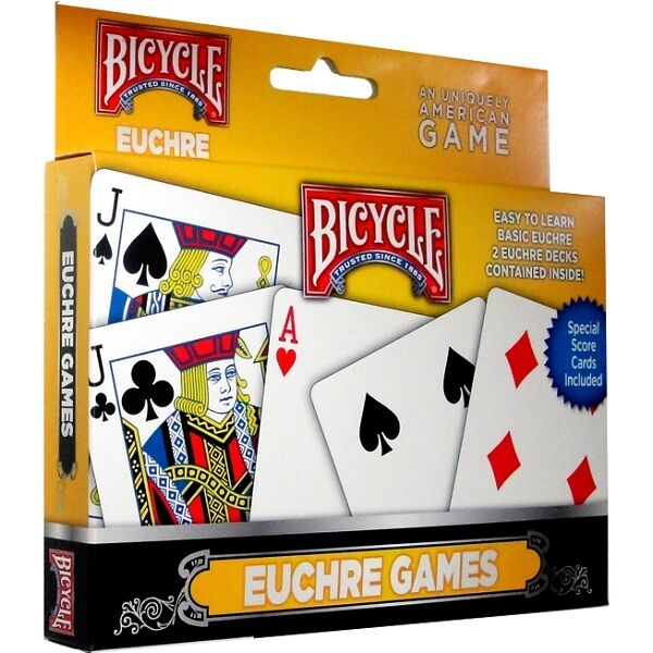 Euchre 2 Deck Set Bicycle Playing Cards Poker Size Card Game Uspcc
