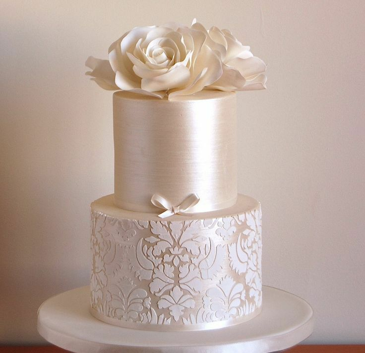 stenciled wedding cake design big damask lotus cake stencil for wedding cakes plantilla 20521